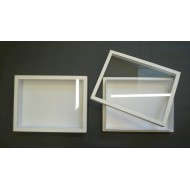 05.24 - Box with glass lid 18x23x5,4 cm - white
