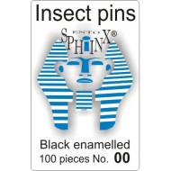 Insect pins black - size 00