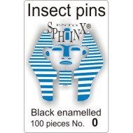 Insect pins black - size 0
