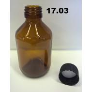 17.03 - Empty bouteille en verre de gouttes pour les produits chimiques 200 ml