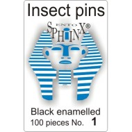 Insect pins black - size 1