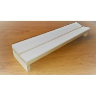 07.75 - Setting boards - span 12 cm, length 35 cm, groove 12 mm - angular ( Continental style ), plastazote thickness 5 mm.
