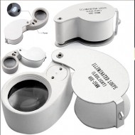 32.51 - Magnifiers - magnification 40x and LED lighting, lens diameter 25 mm
