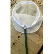 26.96 - Síťka na lov vodního hmyzu kruhová Ø 35 cm,( hůl, rám, síť), hůl 1 dílná 75 cm síť 1x1 mm