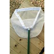 26.97 - Síťka na lov vodního hmyzu trojúhelníková ( hůl, rám, síť), hůl 1 dílná 75 cm, síť 1x1 mm