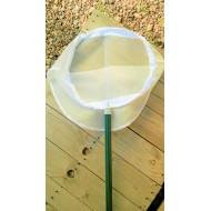 26.961-Síťka na lov vodního hmyzu kruhová Ø 35 cm (hůl ,rám, síť), 1dílná hůl 75 cm, síť UHELON 0,34 mm