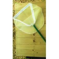 26.971 - Síťka na lov vodního hmyzu trojúhelníková (hůl ,rám ,síť),1 dílná hůl 75 cm, síť UHELON 0,34 mm