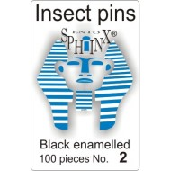 Insect pins black - size 2