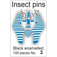 Insect pins black - size 3