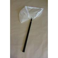 2dílná teleskopická hůl o délce 105 cm + síťka na lov vodního hmyzu trojúhelníková (hůl, rám, síť)