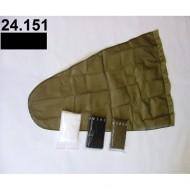 Prodloužený pytel - průměr 65 cm - černý, hloubka pytle - 135 cm