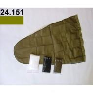 Prodloužený pytel - průměr 65 cm - khaki, hloubka pytle - 135 cm