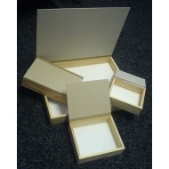 Portable wooden boxes 15x18 cm