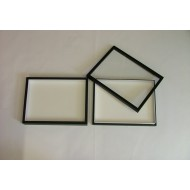 05.23 - Boxes with glass lid 15x23x5,4 cm - black