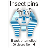 Entomologické špendlíky černé č. 00, délka 38 m
