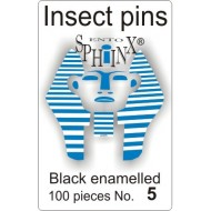Insect pins black - size 5