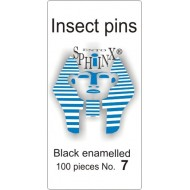 01.07 - Insect pins black - size 7