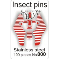 Insect pins white - size 000