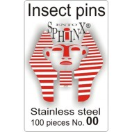 02.20 - Insect pins white - size 00