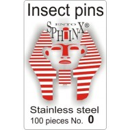 02.10 - Insect pins white - size 0