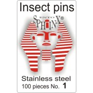02.01 - Insect pins white - size 1