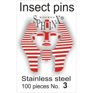 Insect pins white - size 3