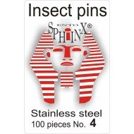 02.04 - Insect pins white - size 4
