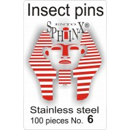 Insect pins white - size 6