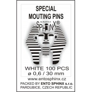 04.16 Speciální preparační špendlíky, průměr 0,6 mm, délka 30 mm