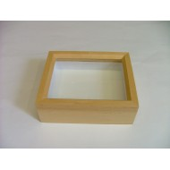 06.12 - Wooden box NATURAL ALDER 23x30x6 cm