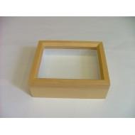 06.15 - Wooden box NATURAL ALDER  42x51x6 cm