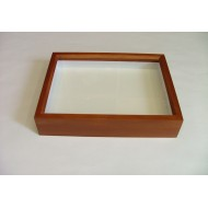 06.22 - Wooden box BROWN (MAHOGANY) impregnated alder 23x30x6 cm