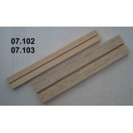 Setting boards micro - span 23 mm, length 200 mm, groove 1 mm