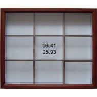 06.41 - Brown impregnated alder(mahogany) 33,5x38x6 cm
