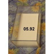 05.92 - Plastic Unit trays1/18 size (9,6x5,9x4,5 cm)