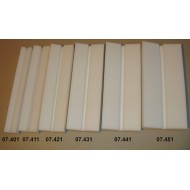 Preparační podložka šikmá - šířka 8 cm, délka 30 cm, škvíra 8 mm