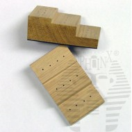 Pinning block - hardwood, three-step (10,21,25 mm)