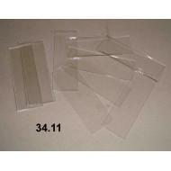 34.11 - Podložní skla čirá s nebroušenými hranami, balení 50 ks
