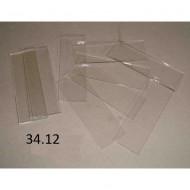 Podložní skla čirá s broušenými hranami, balení 50 ks