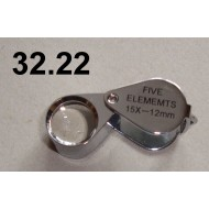 32.22 - Magnifiers - magnification 15x, lens diameter 12 mm