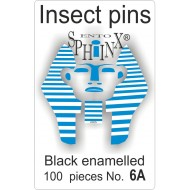 01.061 - Insect pins black - size 6A