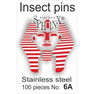 02.061 - Insect pins white - size 6A