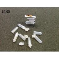 34.03 - Mikrozkumavka pro uchovávání genitálií preparovaného hmyzu