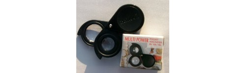Folding magnifiers duo in black plastic case