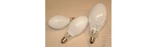 Mercury tungsten blended lamps and bulbs