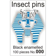 01.30 - Entomologické špendlíky černé č.000, délka 38 mm