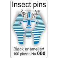 Entomologické špendlíky černé č.000