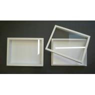 05.68 - Entomologická krabice 40x50x5,4 cm - bez výplně dna pro UNIT SYSTÉM - KLASIK, skleněné víko - bílá