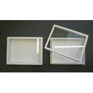 05.452 - Entomologická krabice sklo 19,5x26 bílá