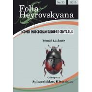 Lackner T., 2015: Sphaeritidae, Histeridae. 33 pp. Folia Heyrovskyana 23